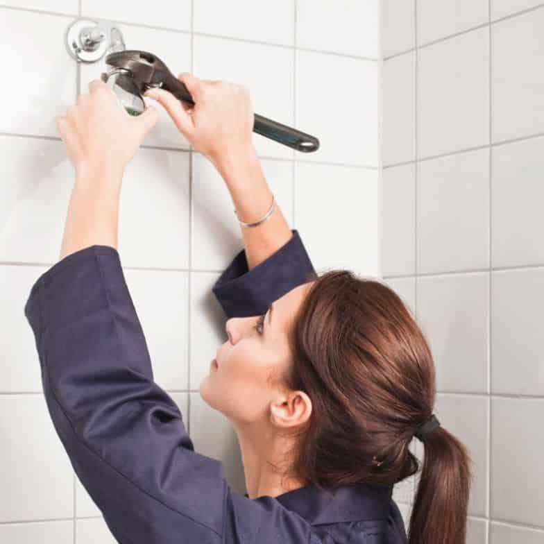 woman plumber
